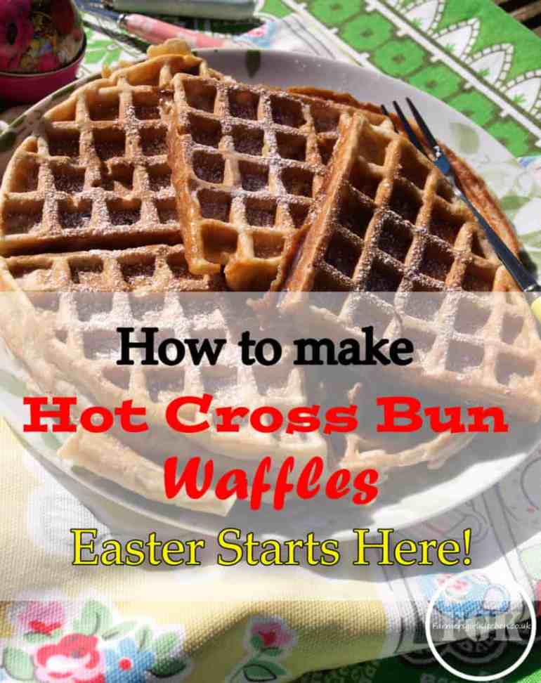 How to make Hot Cross Bun Waffles all the flavours of Hot Cross Bun in a waffle