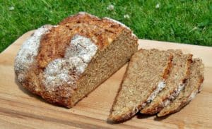 Wholemeal Cheddar and Apple Chutney Soda Bread with Cider