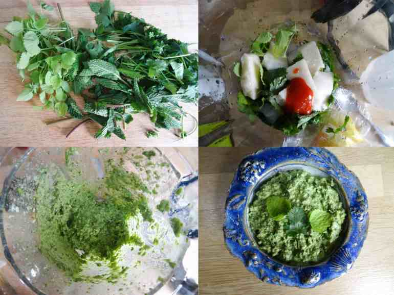 How to make Coriander and Mint Dip