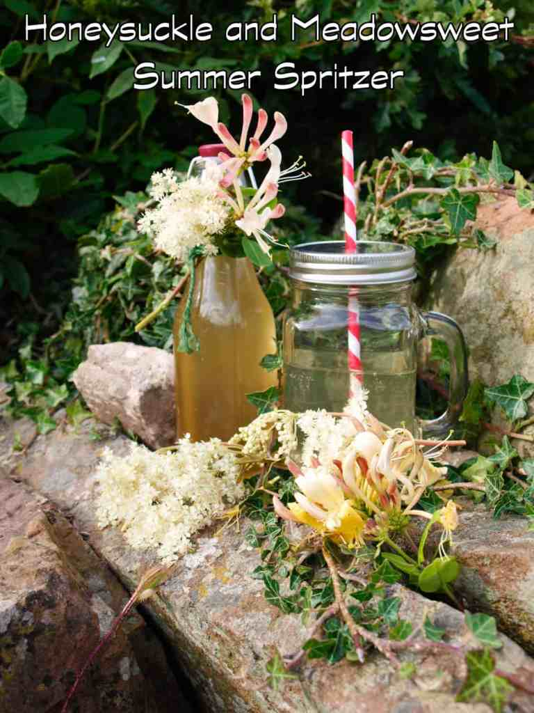Make your own Honeysuckle and Meadowsweet syrup, add sparkling water or wine and you have a summer spritzer