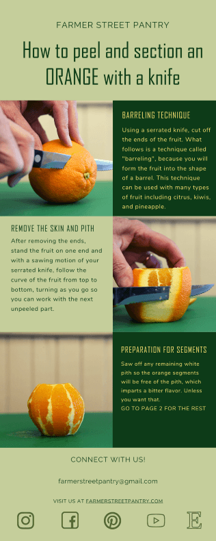 How to peel oranges page 1