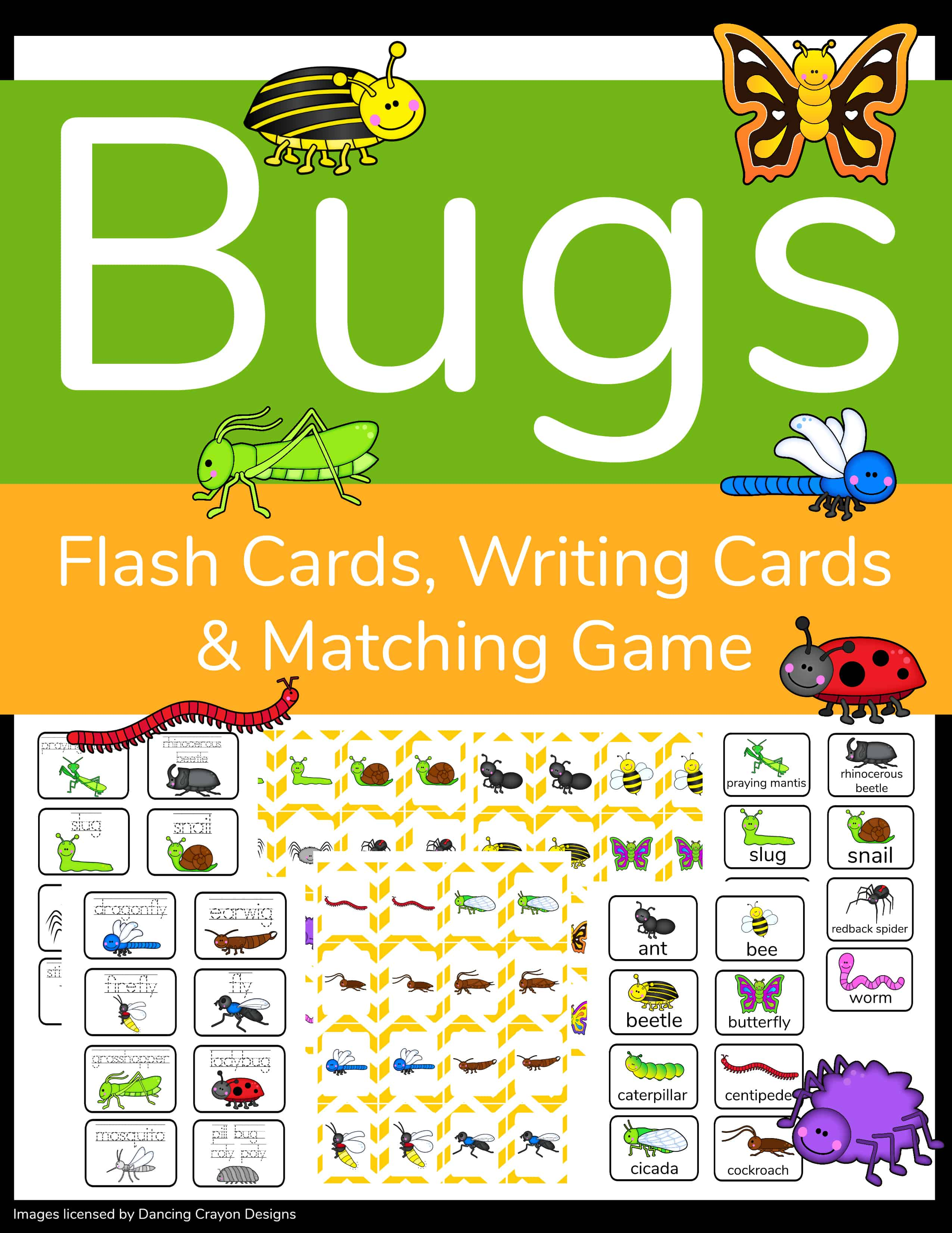 3 In 1 Printable Insect Activity Sheets