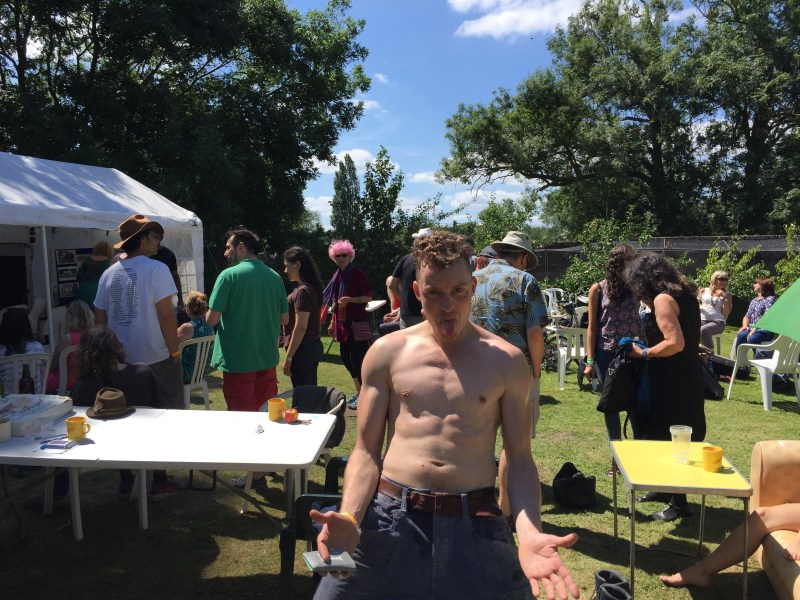 naked guy at farmfest