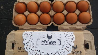 My brand, M'eggs