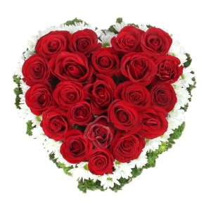 heart shaped rose arrangement singapore