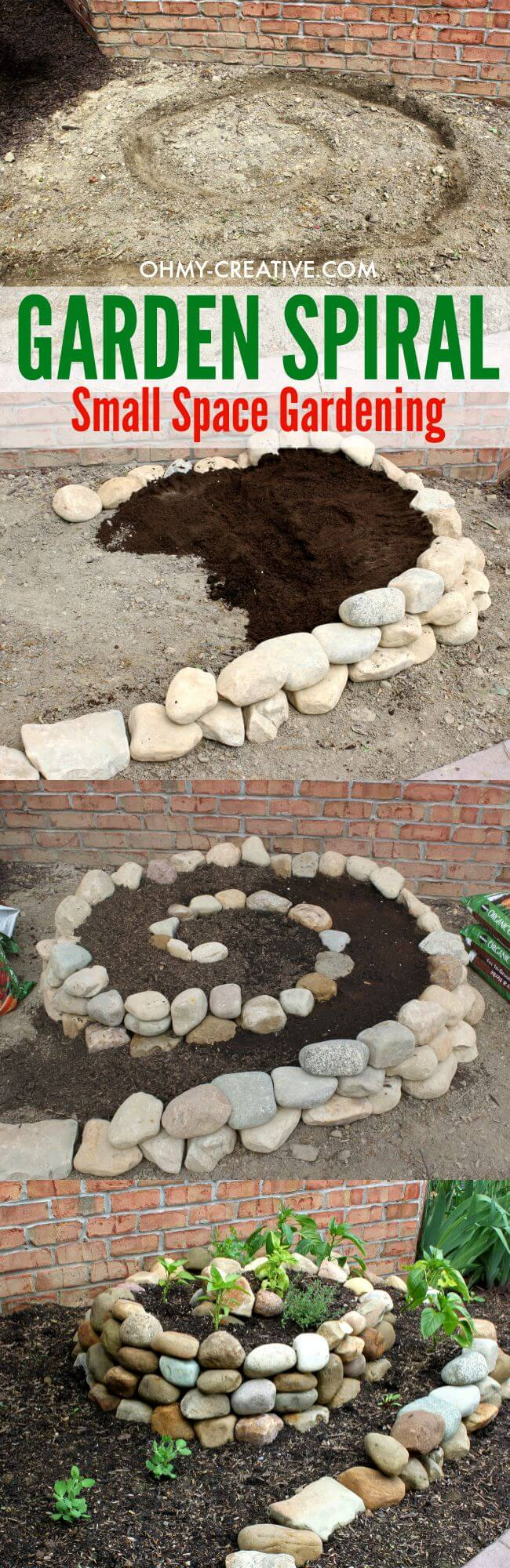 Stone Spiral Garden for Small Spaces