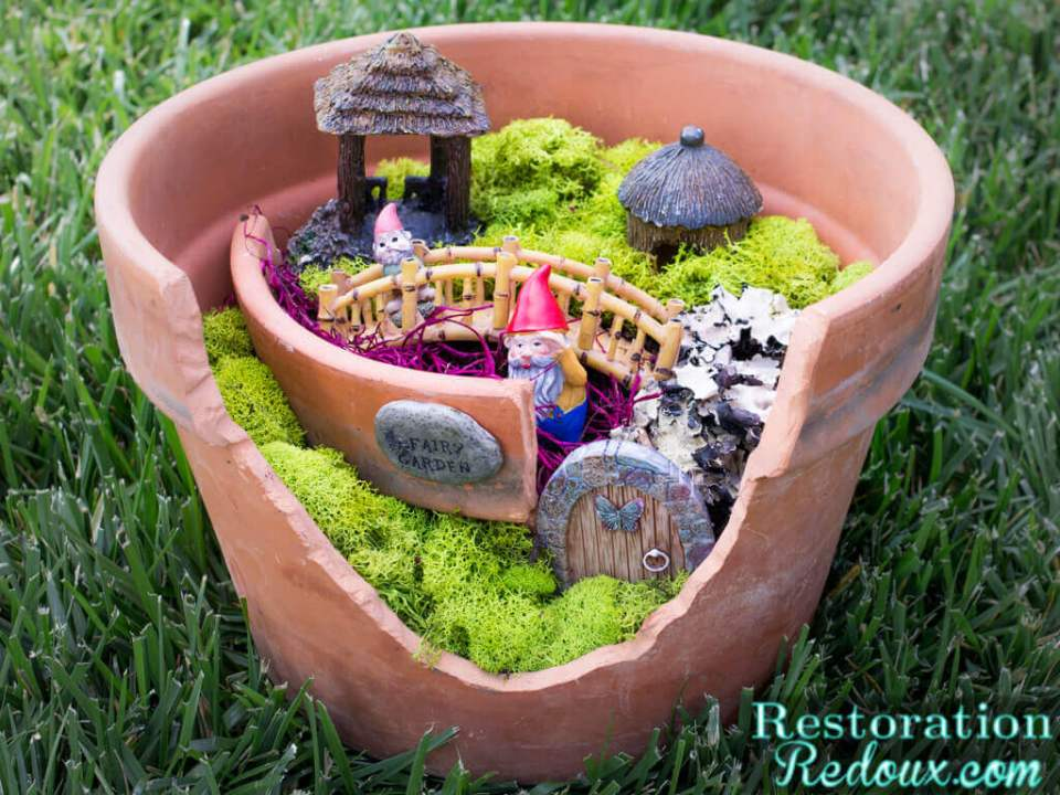 DIY Flower Pot Fairy Garden Craft