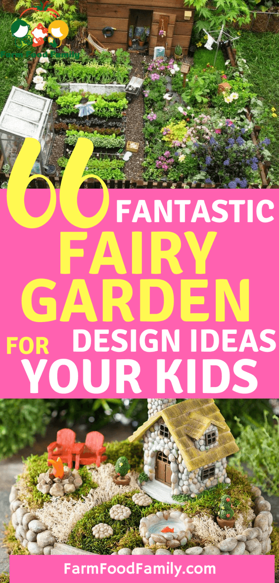 Find out how to make a DIY magical fairy garden and get ideas for this enchanting and fascinating garden trend, have fun with your kids.