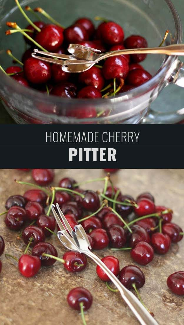 Learn How To Make A Homemade Cherry Pitter