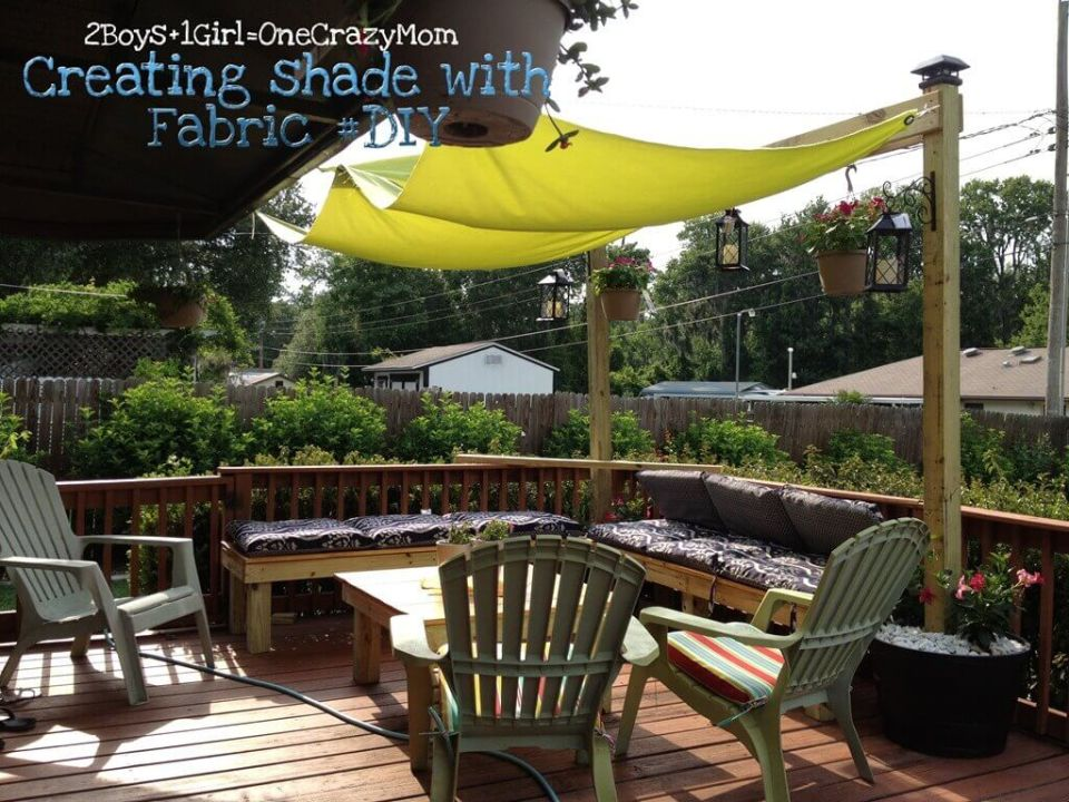 Simple Fabric Sun Shade