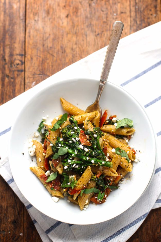 20 Minute Lemon Pesto Penne
