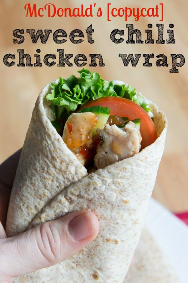 McDonald's CopyCat Sweet Chili Chicken Wrap