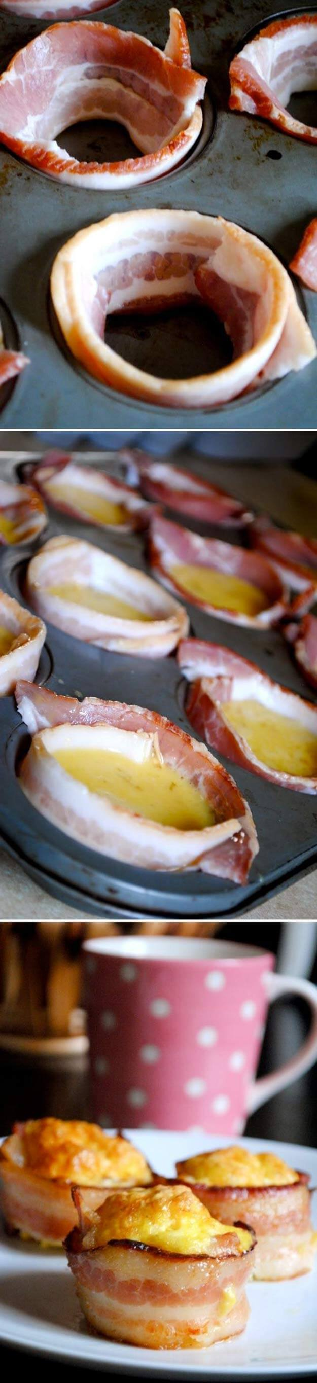 Try Mini Bacon And Egg Cups
