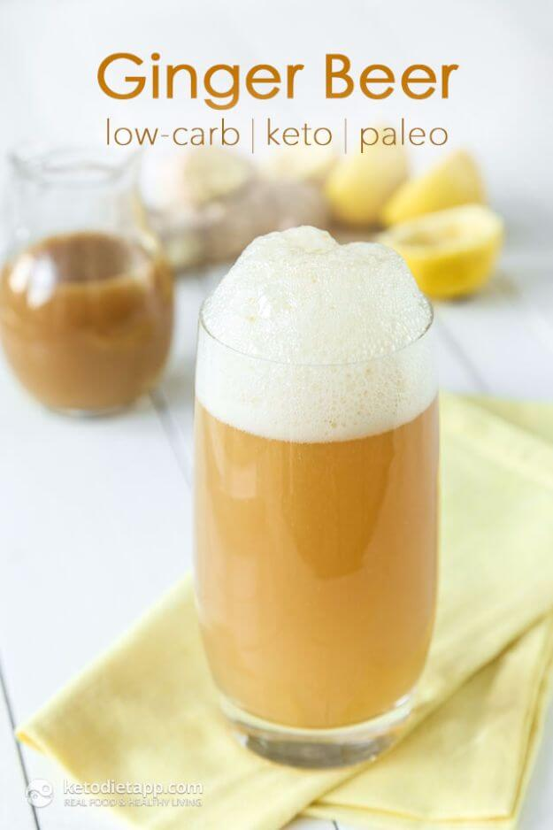 Homemade Sugar-Free Ginger Beer