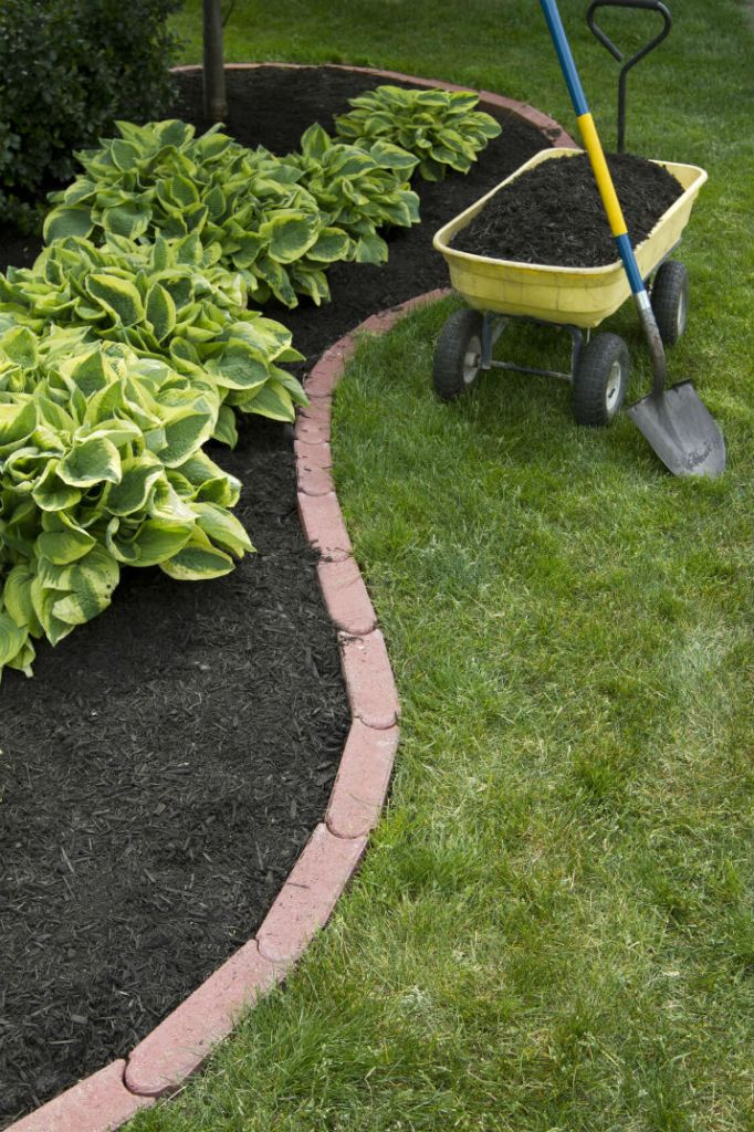DIY Lawn Edging Ideas For Beautiful Landscaping: Linked Soft Red Edging Bricks
