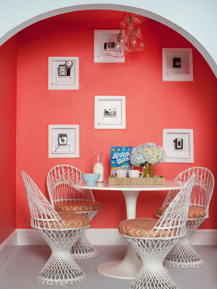 Coral Calm Breakfast Nook Idea