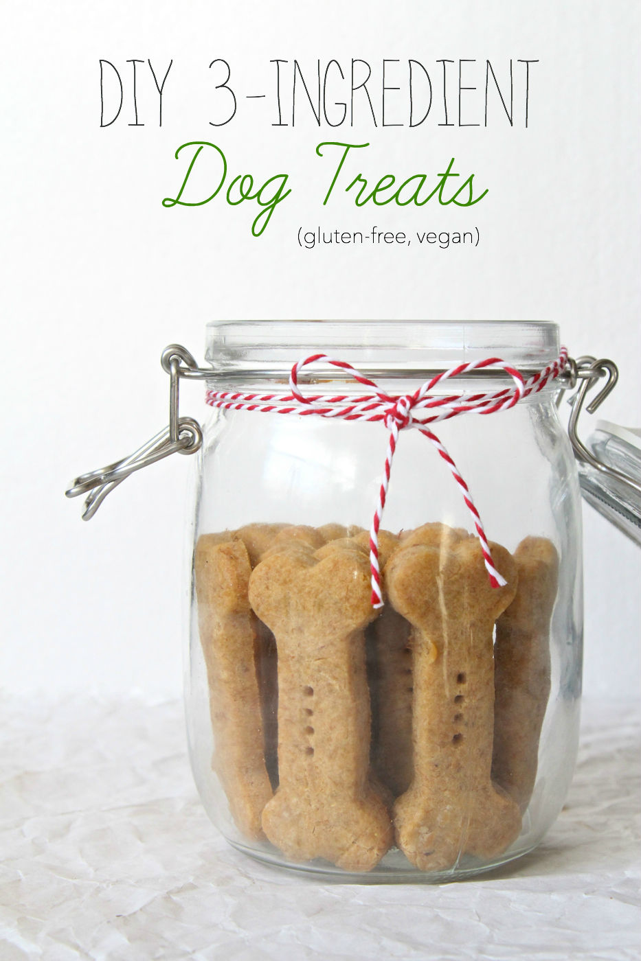 Three Ingredient Vegan, Gluten Free Dog Treats