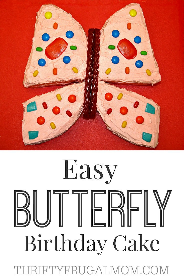 Easy Butterfly Birthday cake