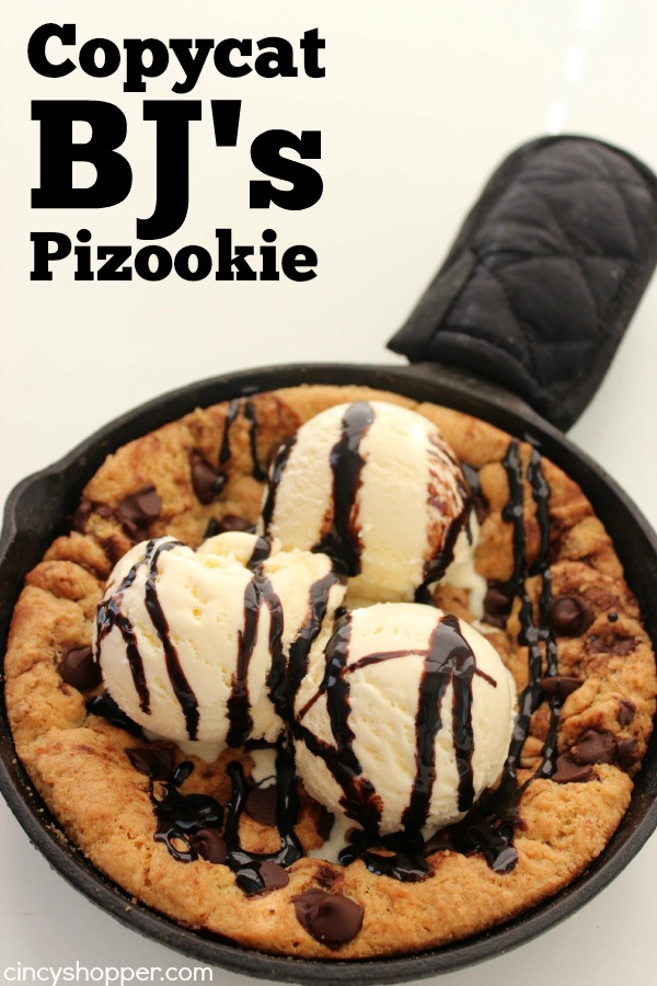COPYCAT BJ'S PIZOOKIE PIZZA COOKIE