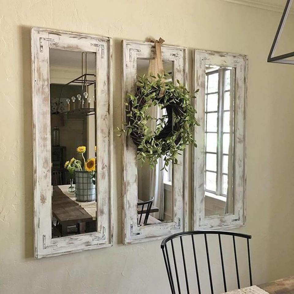 A Trio of Shabby Chic Mirrors