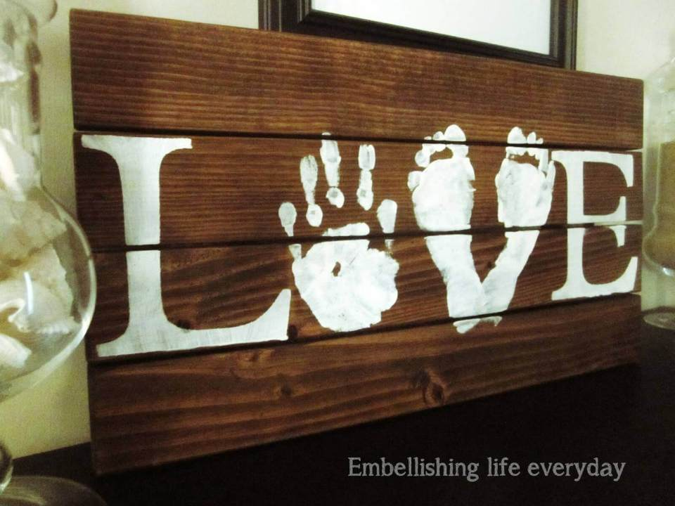 Hand and Foot Print Family Board