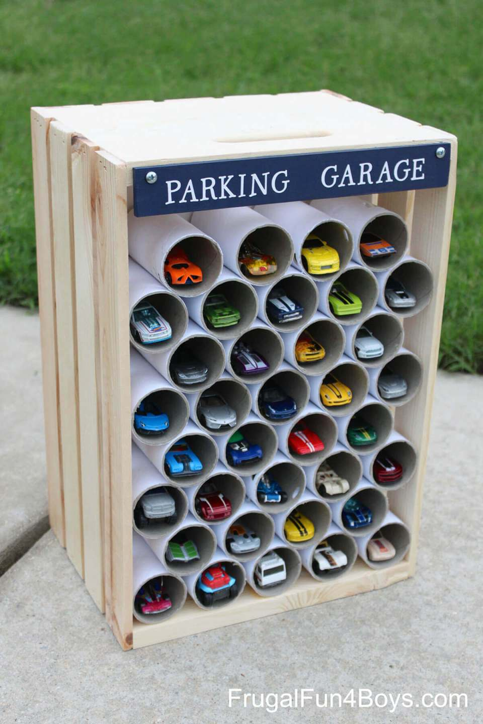 """Easy to Organize Storage """"Garage"""" for Toy Cars"""