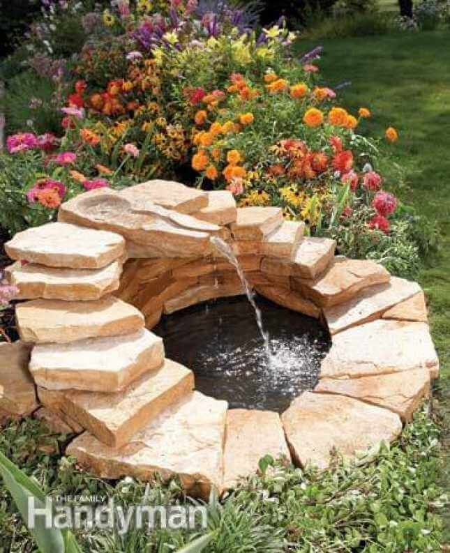 Mini Oasis with Waterfall Water Feature