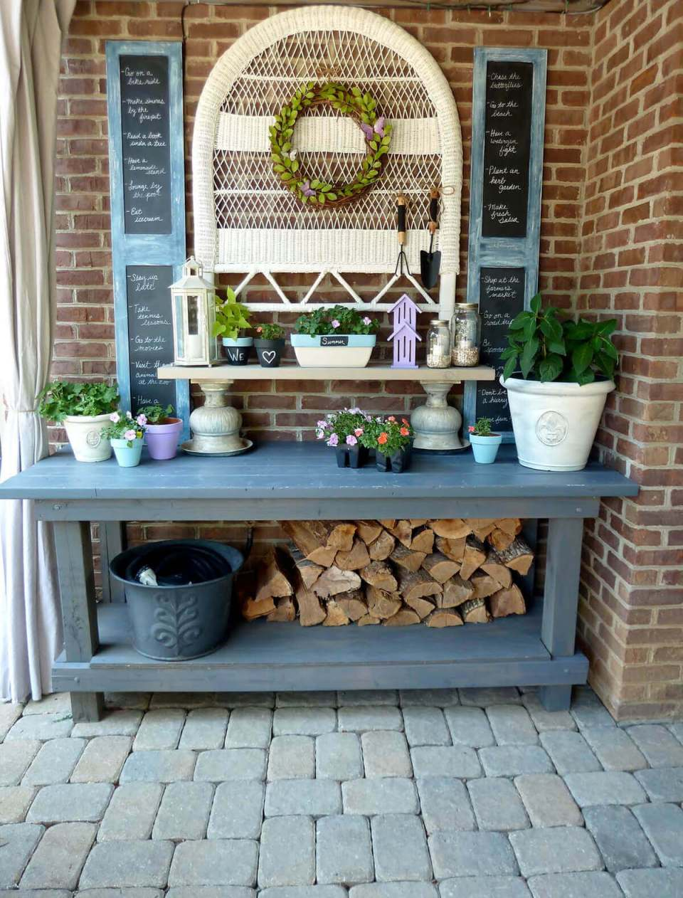 Chalkboard Accents, Firewood, and Other Whimsies