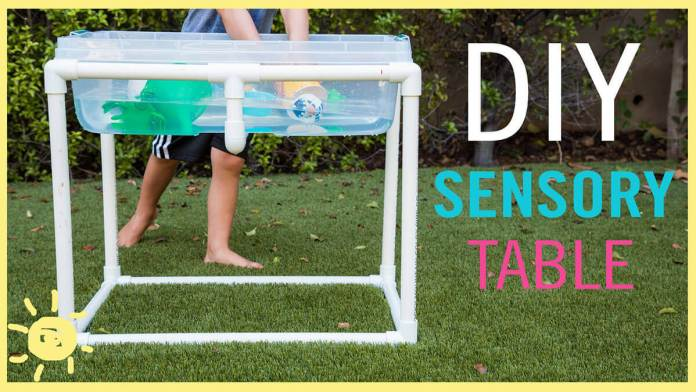 Summery Sensory Table for Water Play