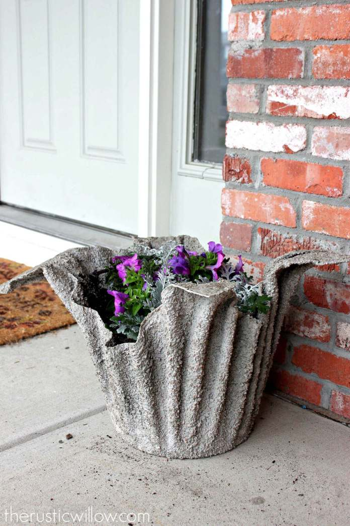 Garden Art DIY Project with Planters