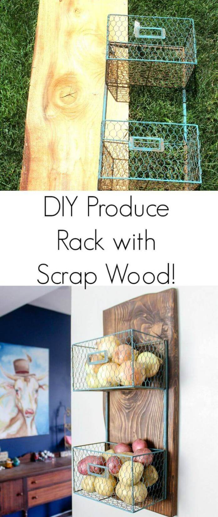 DIY Scrap Wood Produce Rack