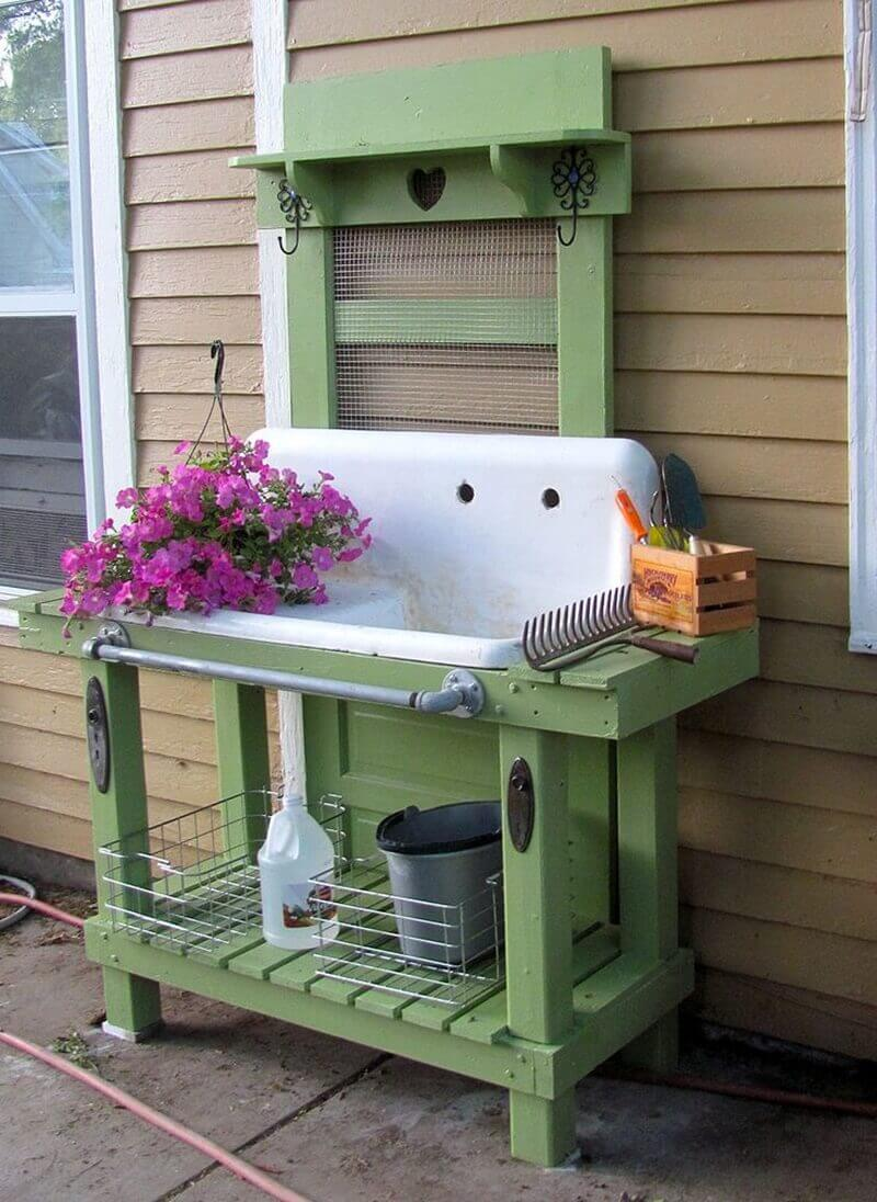 Ingenious Kitchen Sink Potting Concept