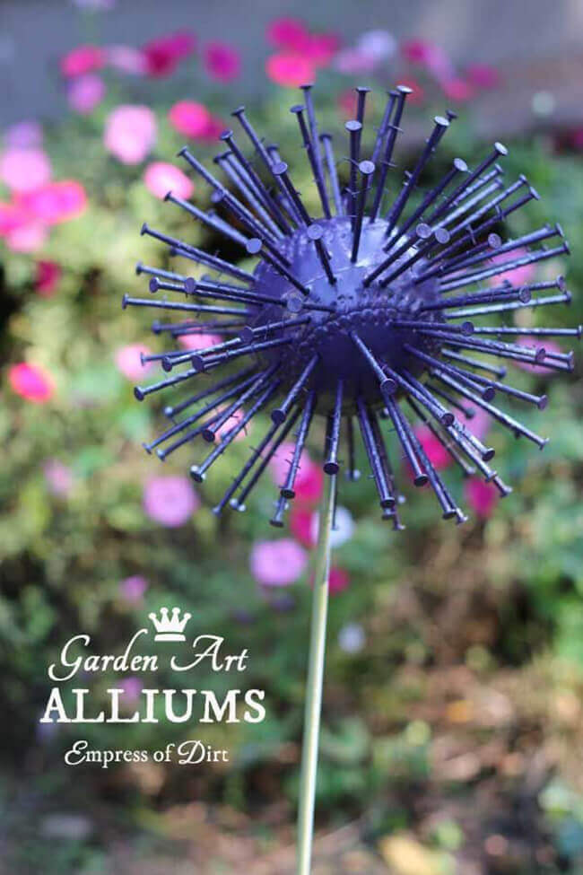 Garden Art DIY Project with New Materials