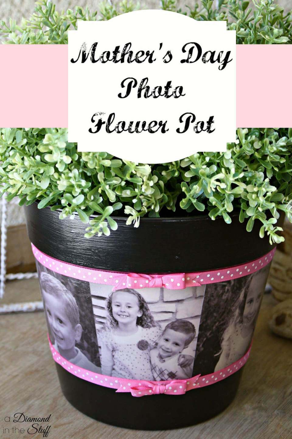 DIY Photo Flower Pot for Mother's Day