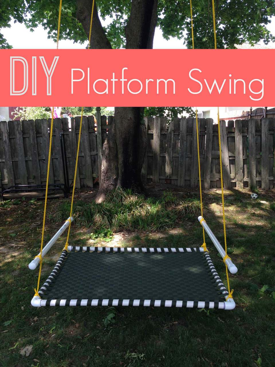 Totally Lounge-worthy DIY Platform Swing