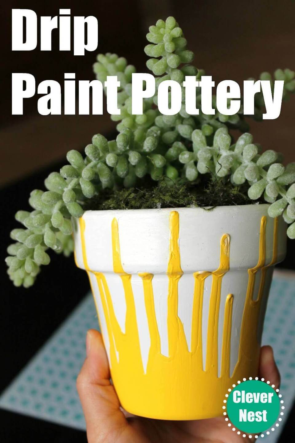 Simple Drip Paint Pottery Hack