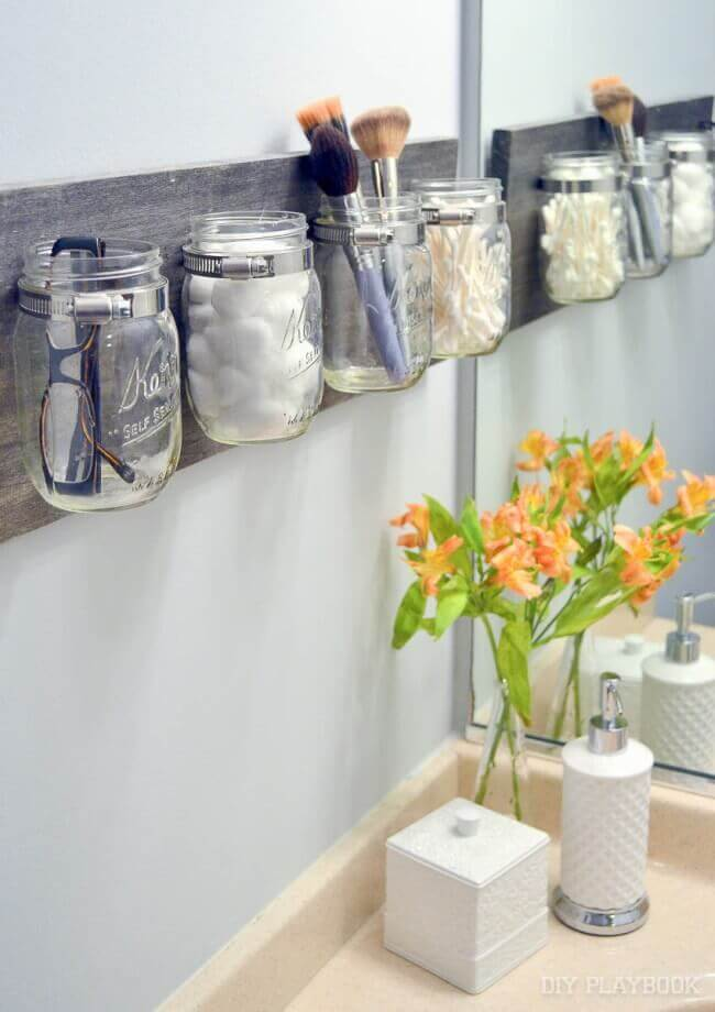Mason Jar Storage Board