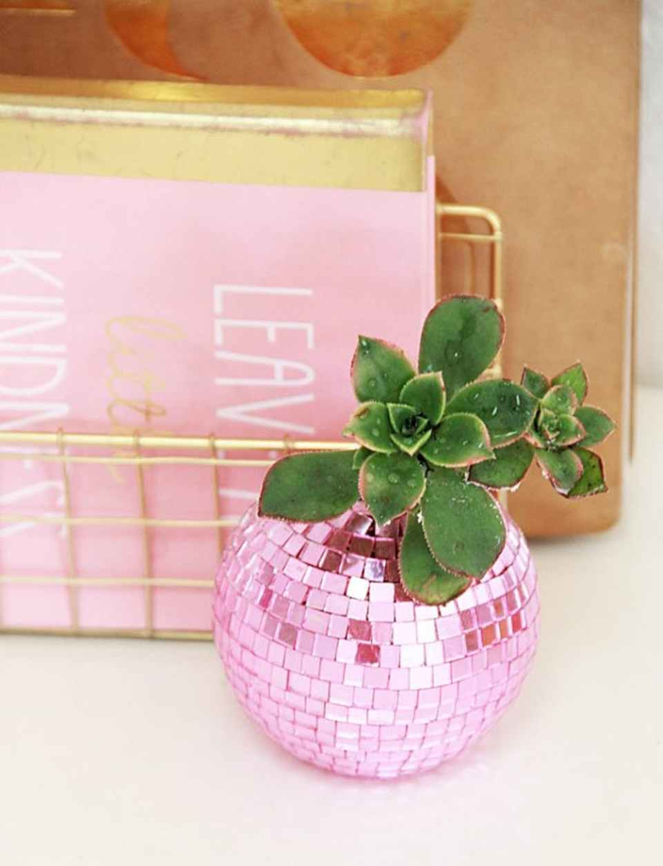 DIY Disco Ball Planters