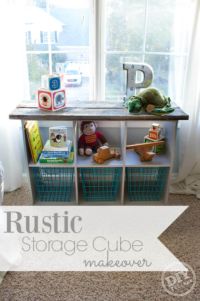 Cube Storage Unit Rustic Makeover