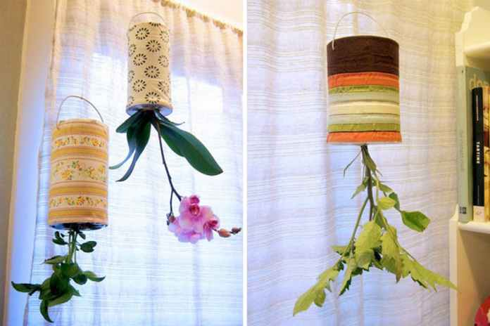 Recycled Upside Down Planters