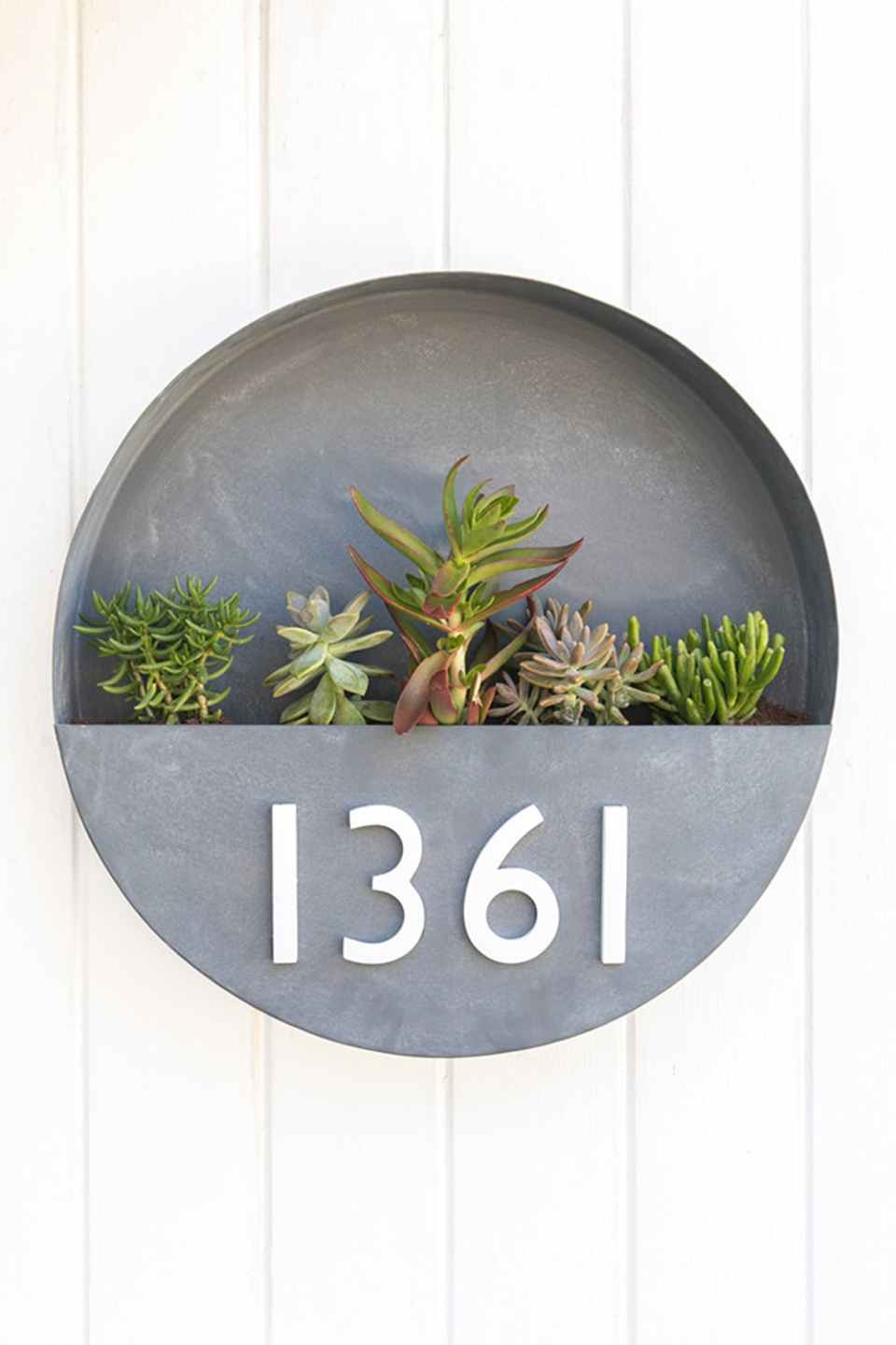 DIY House Number Planter