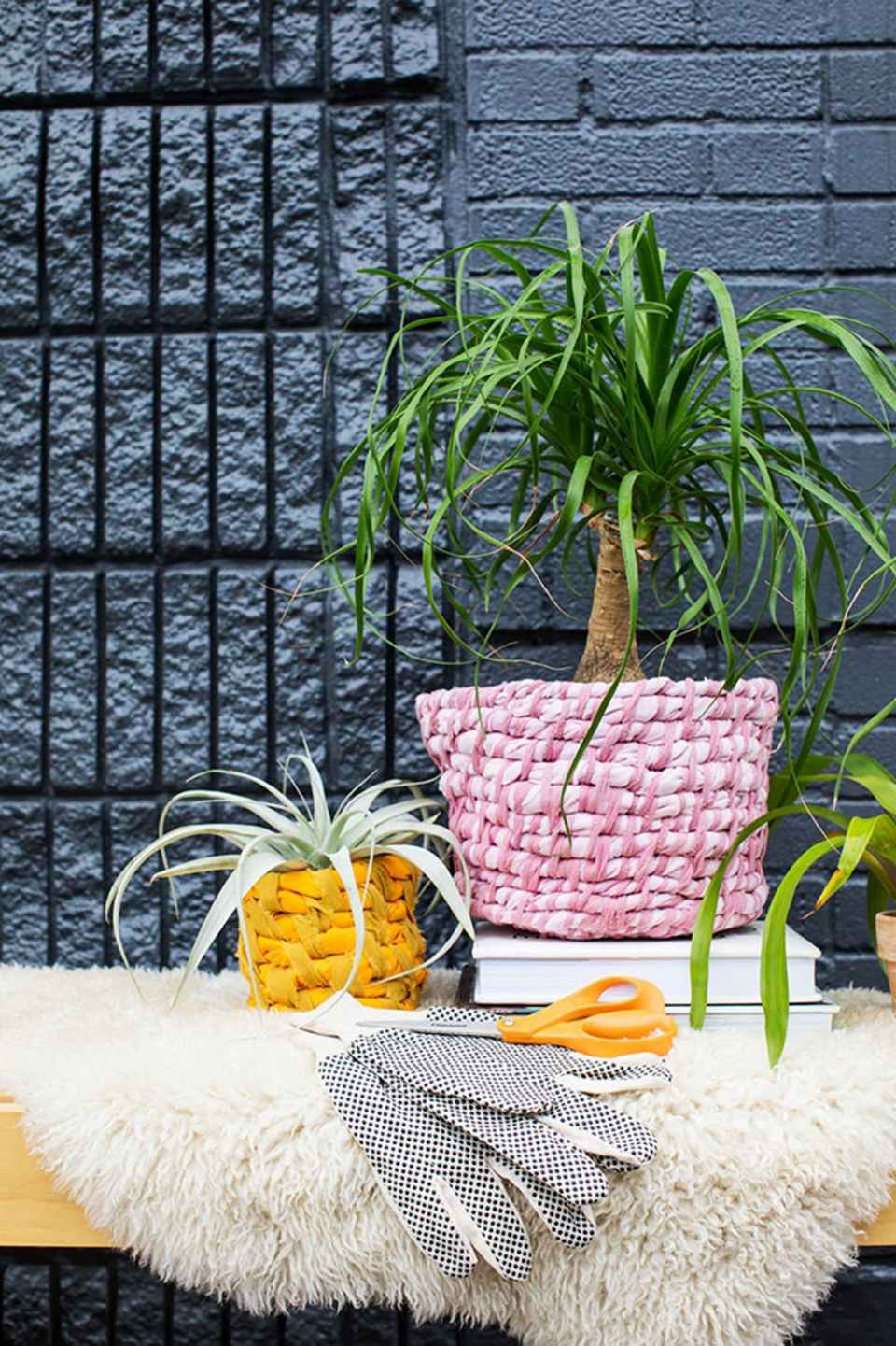 Easy Fabric Planter DIY