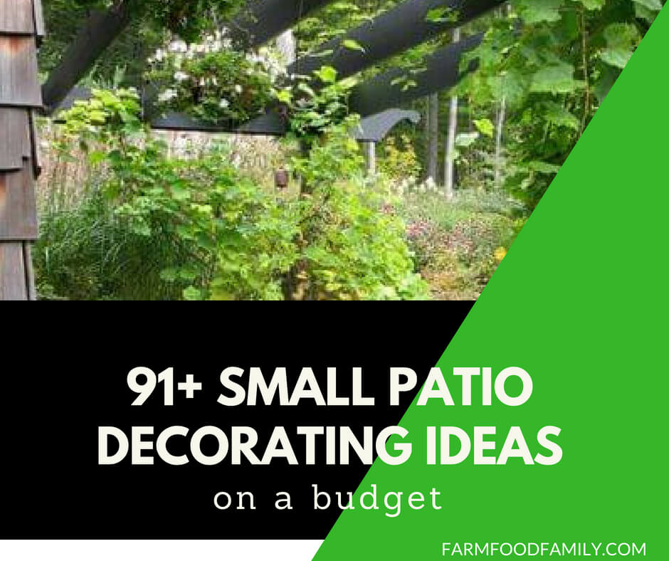 91+ Small Patio Decorating Ideas on a Budget - FarmFoodFamily on Backyard Patios On A Budget id=35464