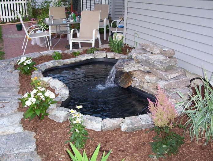 Simple Pre-Formed Pond with Waterfall