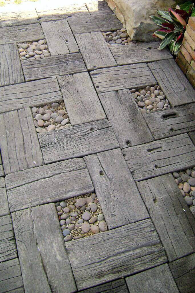 Romantic Aged Wood Parquet And Stone