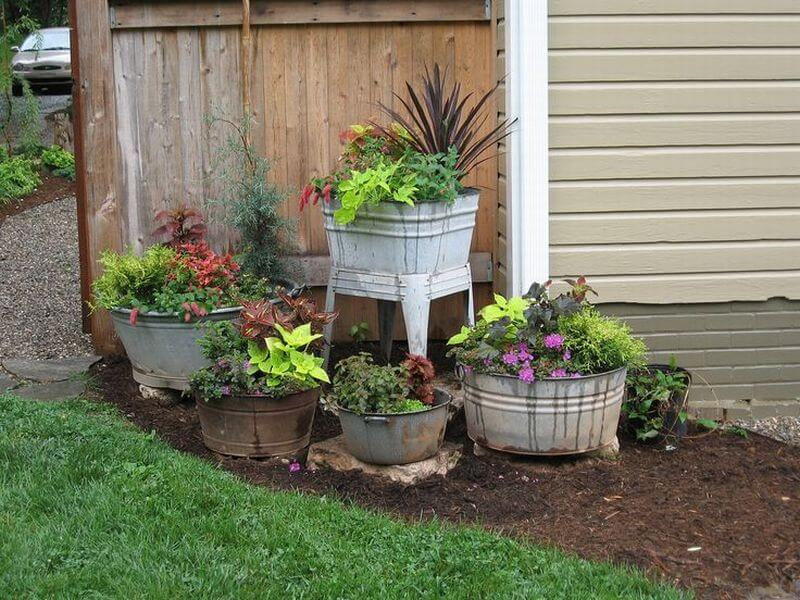 Antique Washtub Garden Tutorial