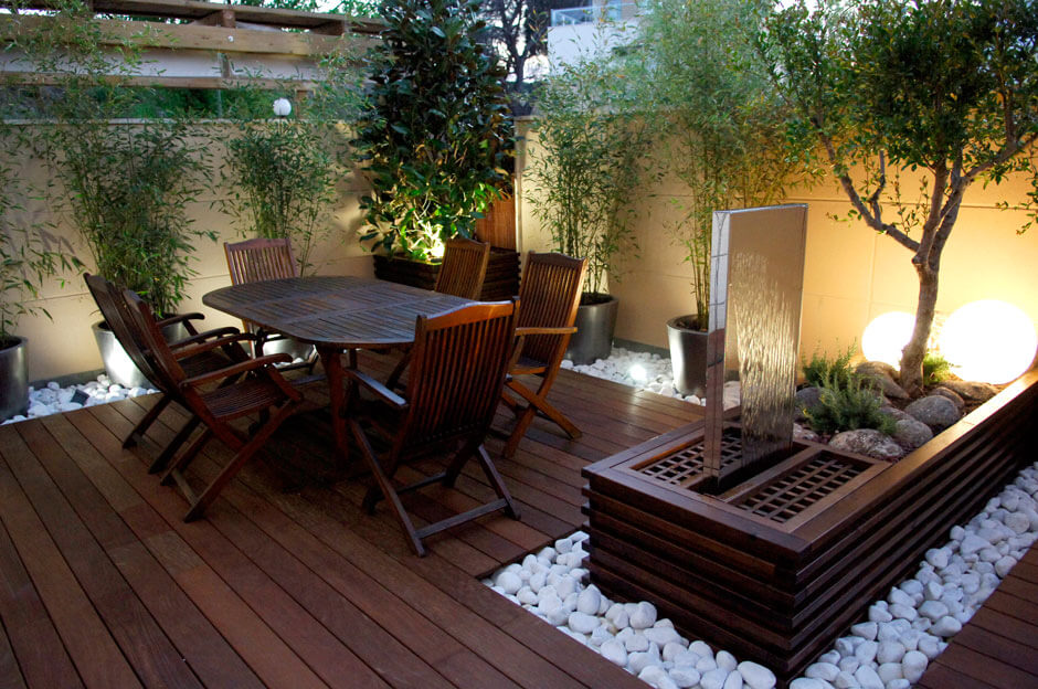 Sleek Patio Area
