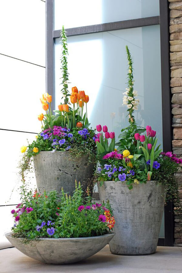 Concrete Planters for Your Garden or Porch