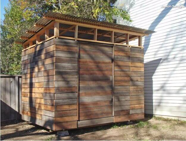 Reclaimed Wood Storage Shed
