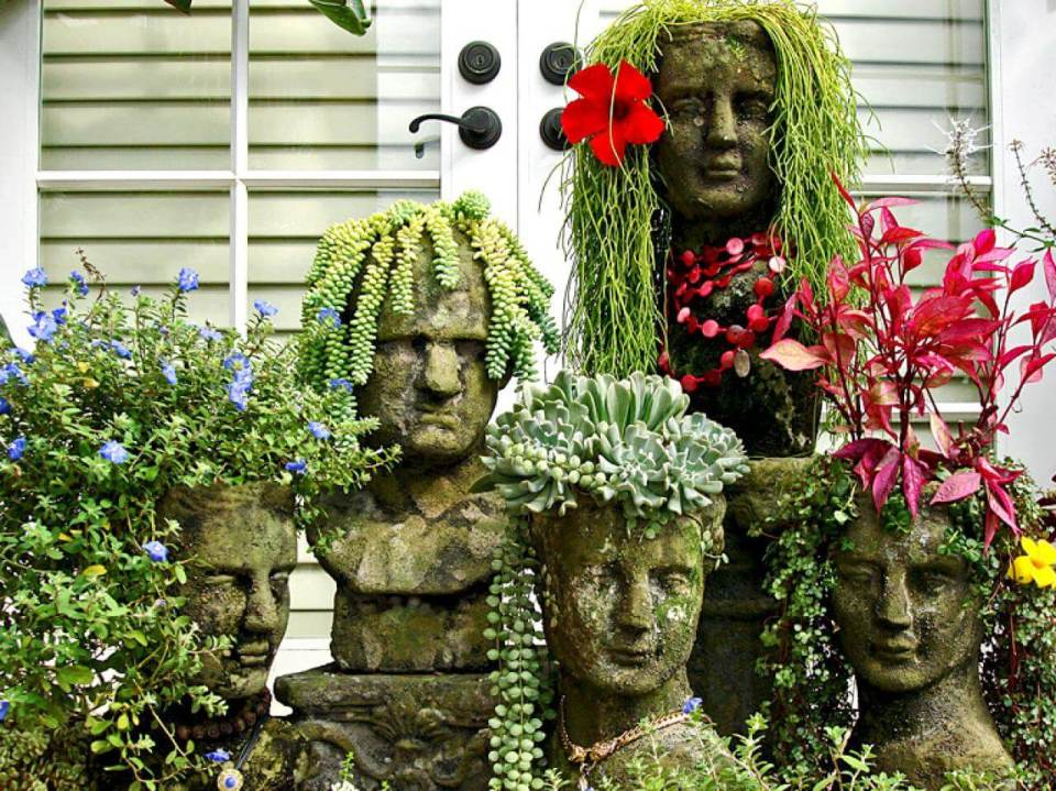 Succulent Garden Ideas: Your Faux-Mount Rushmore